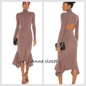 NBD Playa Sweater Dress in taupe size XS